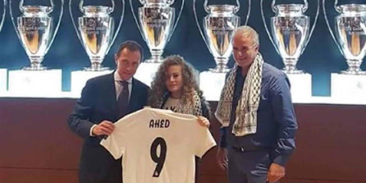 """Real Madrid host Palestinian teen """"terrorist"""", Ahed Tamimi"""