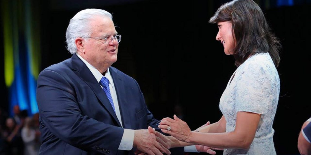 "CUFI's Pastor Hagee: ""Nikki Haley will be missed by friends of Israel"""