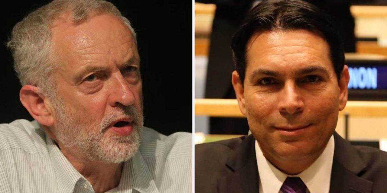 "Israel's Danon tells UK Lords: Corbyn is ""anti-Semite who wants to return Britain to dark periods in history"""