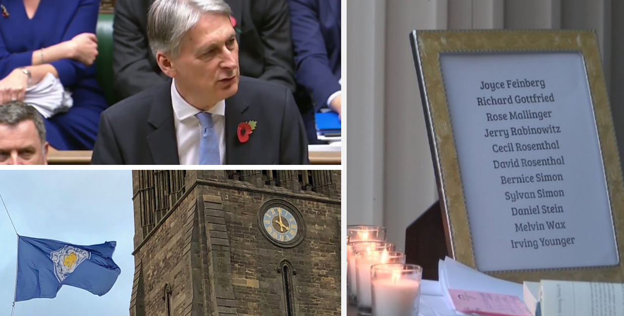 How Britain has honoured victims of the Pittsburgh massacre
