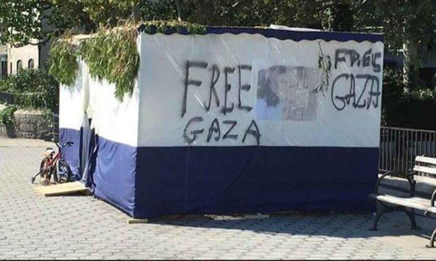 "Jewish Sukkah vandalised with ""Free Gaza"" graffiti in Manhattan"