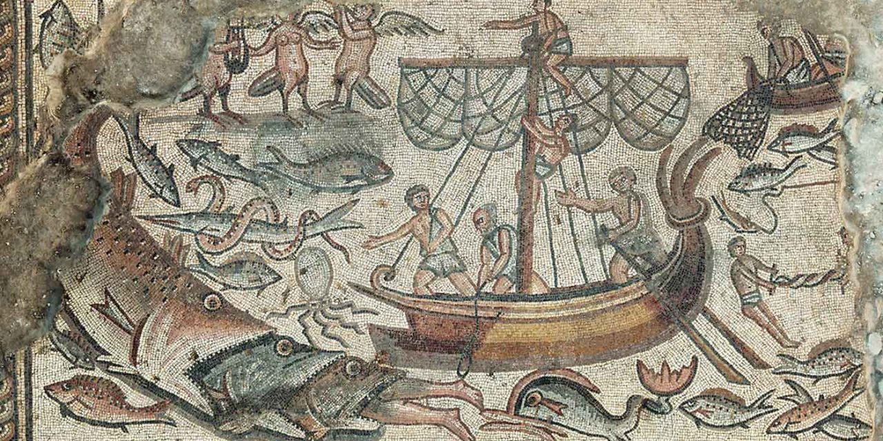Biblical mosaics of Jonah and Tower of Babel discovered at 1,600-year-old Israeli synagogue