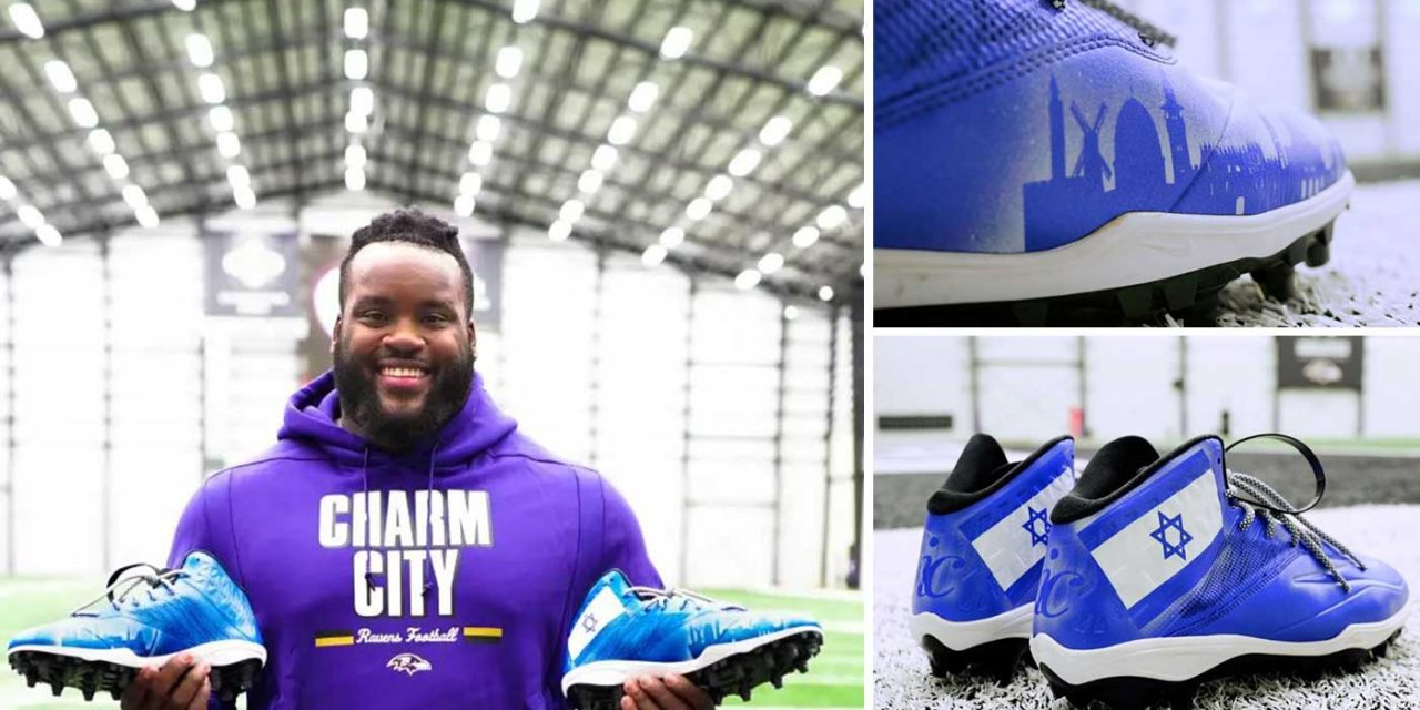 NFL player puts Israel flag on his trainers to show support for Israel