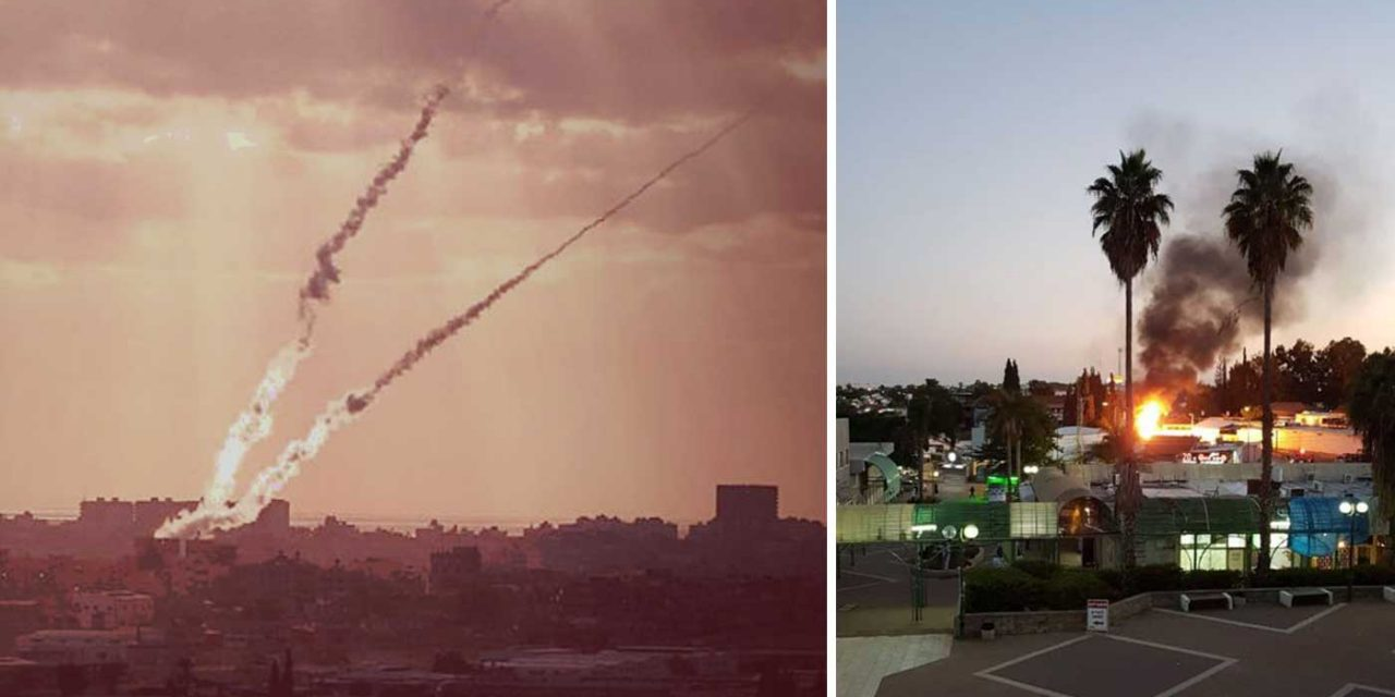 Major escalation in violence as Gaza terrorists fire 80+ rockets at Israel