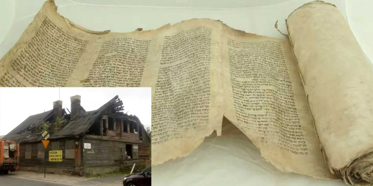 Rare Torah scroll found hidden in wall of former Polish ghetto home