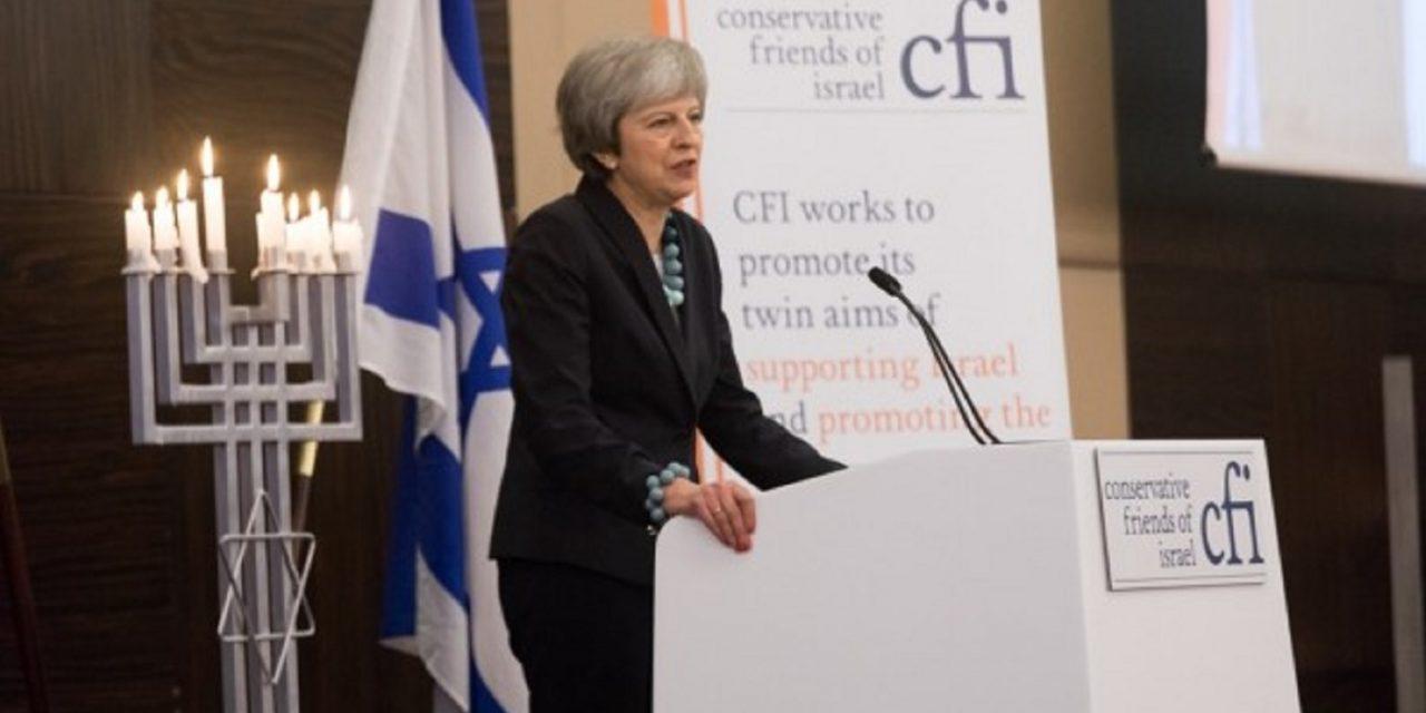 "Theresa May: UK-Israel ties are ""stronger than ever"""