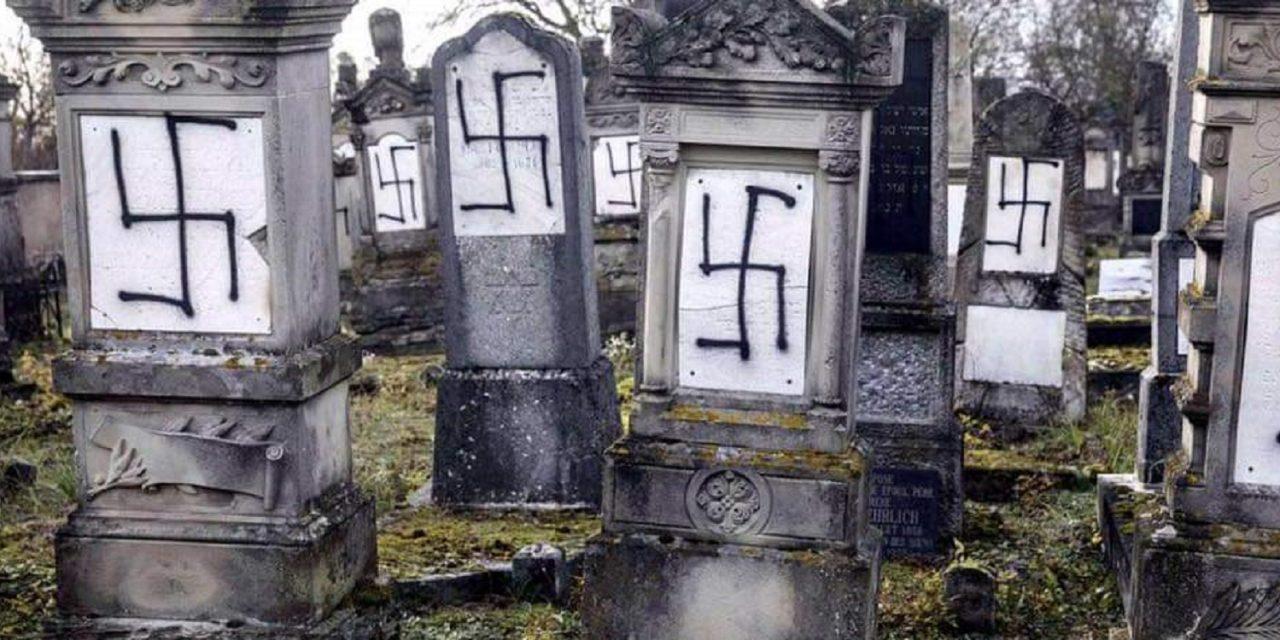 Jewish cemetery in Strasbourg vandalised with 37 gravestones being sprayed with antisemitic graffiti