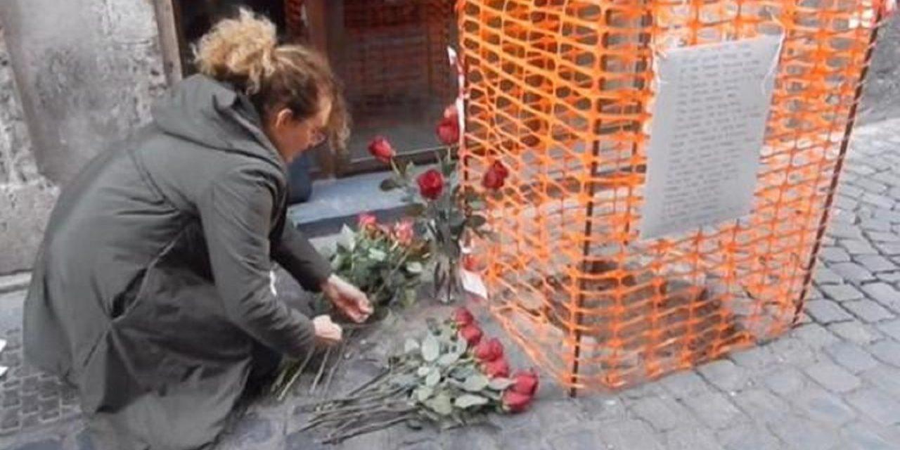 Twenty Holocaust memorial stones stolen from street in Rome