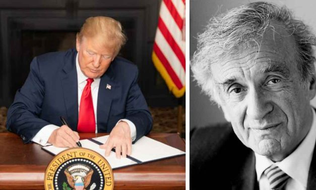 Trump signs into law genocide prevention act named for Elie Wiesel