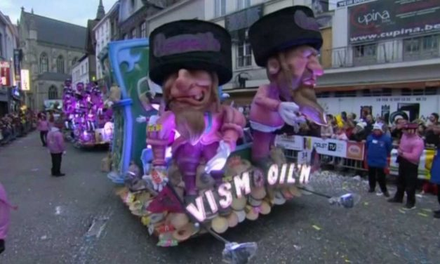 "Belgian parade features anti-Semitic float with ""dancing Jews, rats and money"""