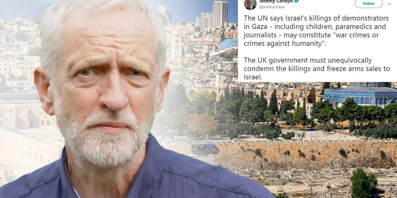 After UN report, Corbyn calls on UK to condemn Israel and stop arms sales