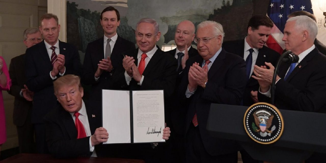 "Netanyahu praises US recognition of Israel's sovereignty over Golan as ""historic justice"""