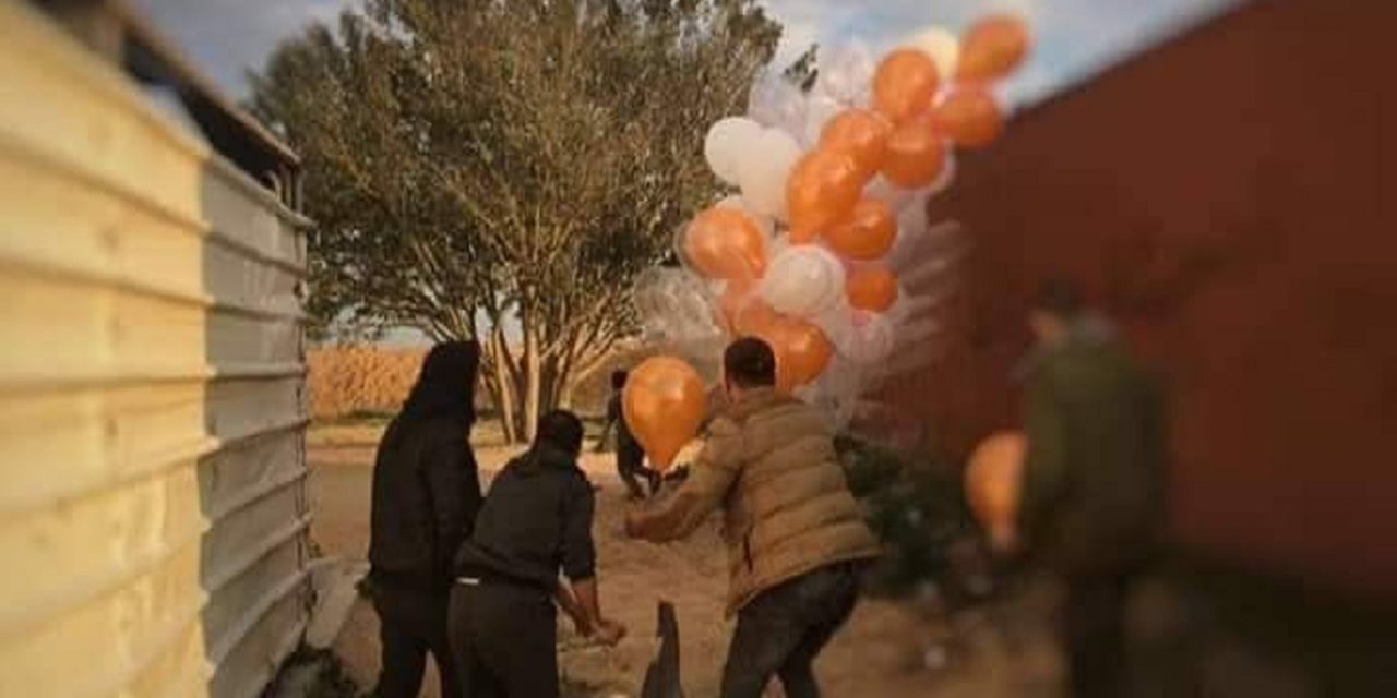 Explosive balloon damages Israeli home; Israel responds with Hamas strikes