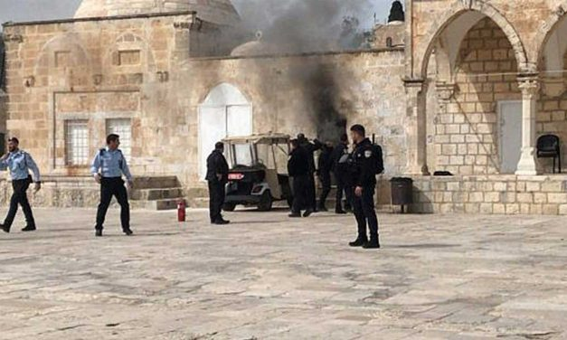 Temple Mount closed after Palestinians throw firebomb at police