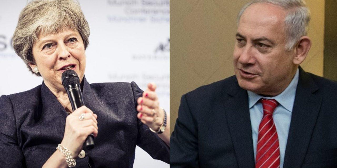 Netanyahu phones Theresa May to thank Britain for banning Hezbollah