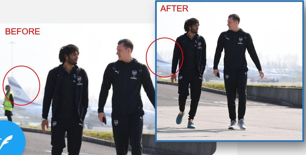 Arsenal footballer cuts Israeli flag off picture after Twitter backlash