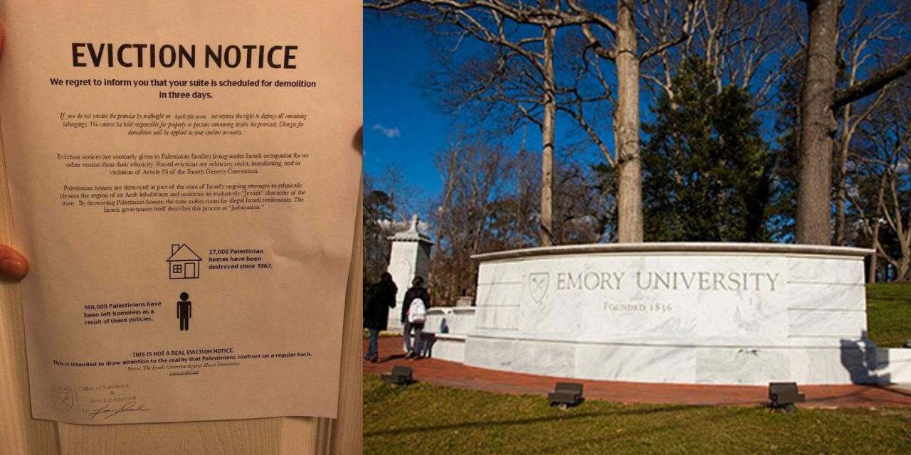 Mock eviction notices posted on Jewish students' dormitory doors