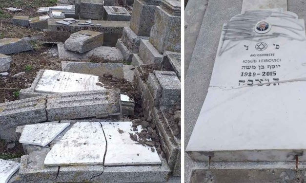 Anti-Semites destroy 73 tombstones at Jewish cemetery in Romania