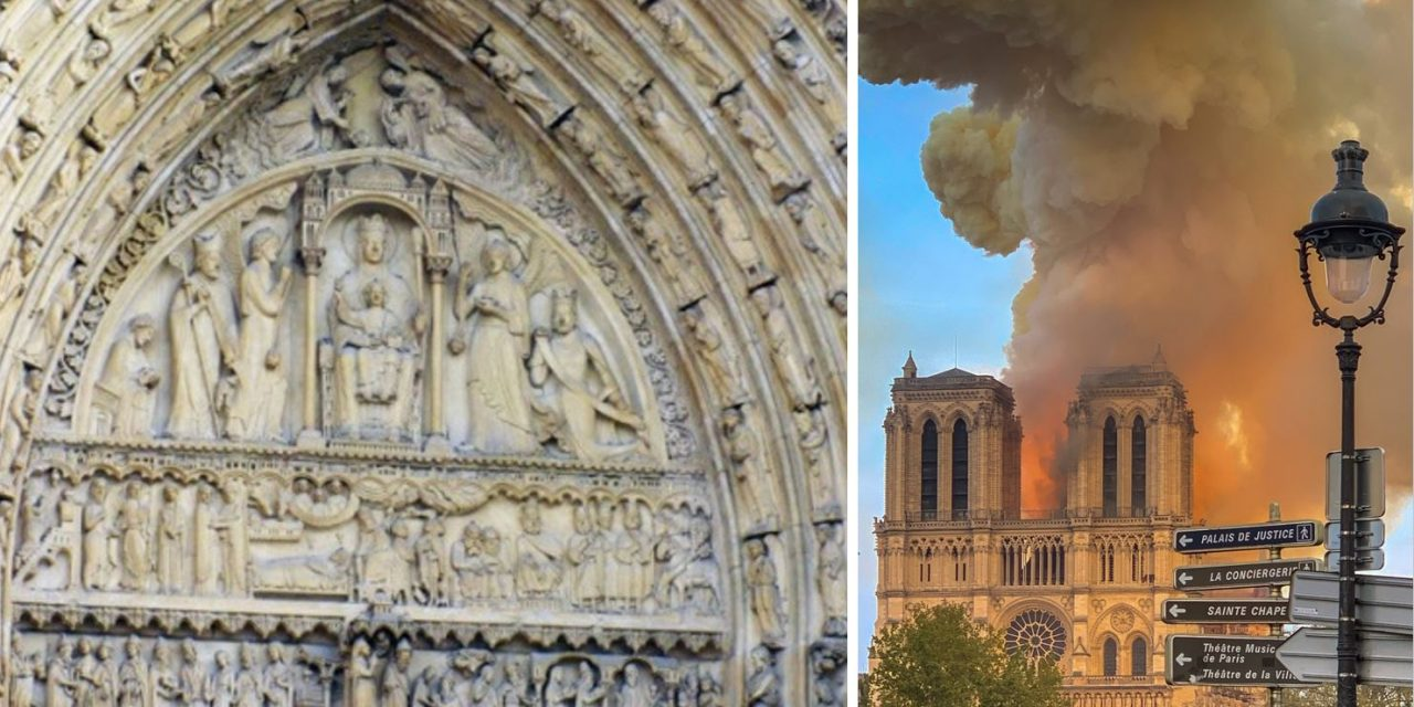 Notre Dame's carvings that depict the tragic history of Jews in Paris