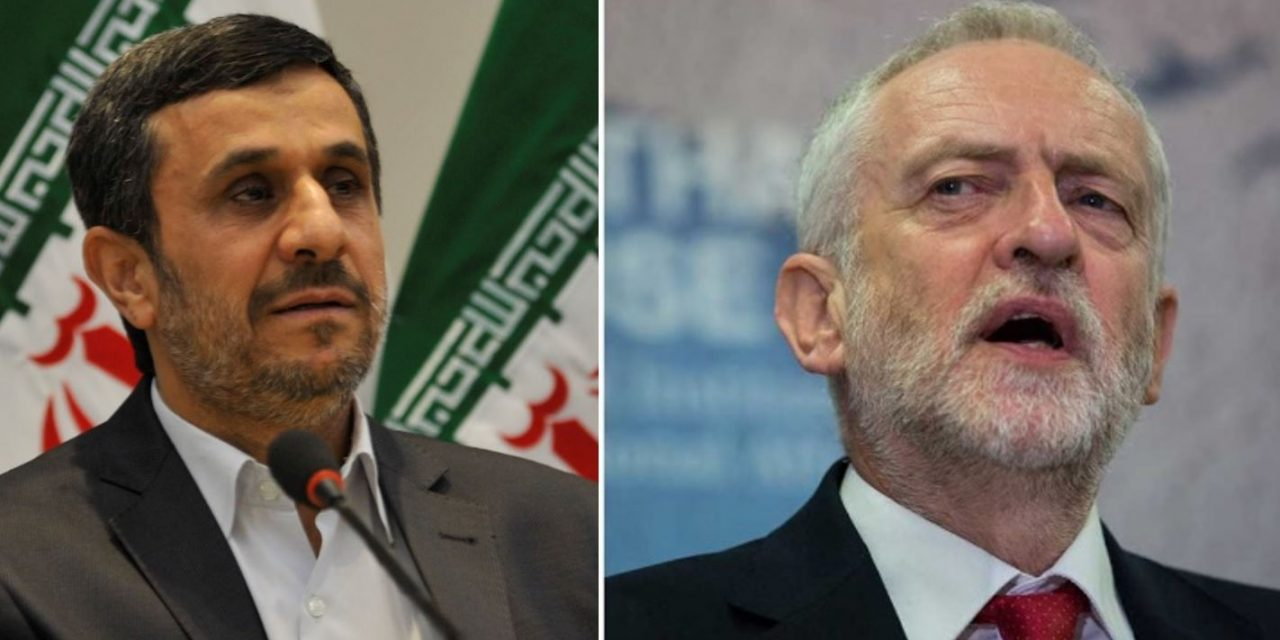 "Corbyn defended Iran's Ahmadinejad's ""Wipe Israel off the map"" speech"