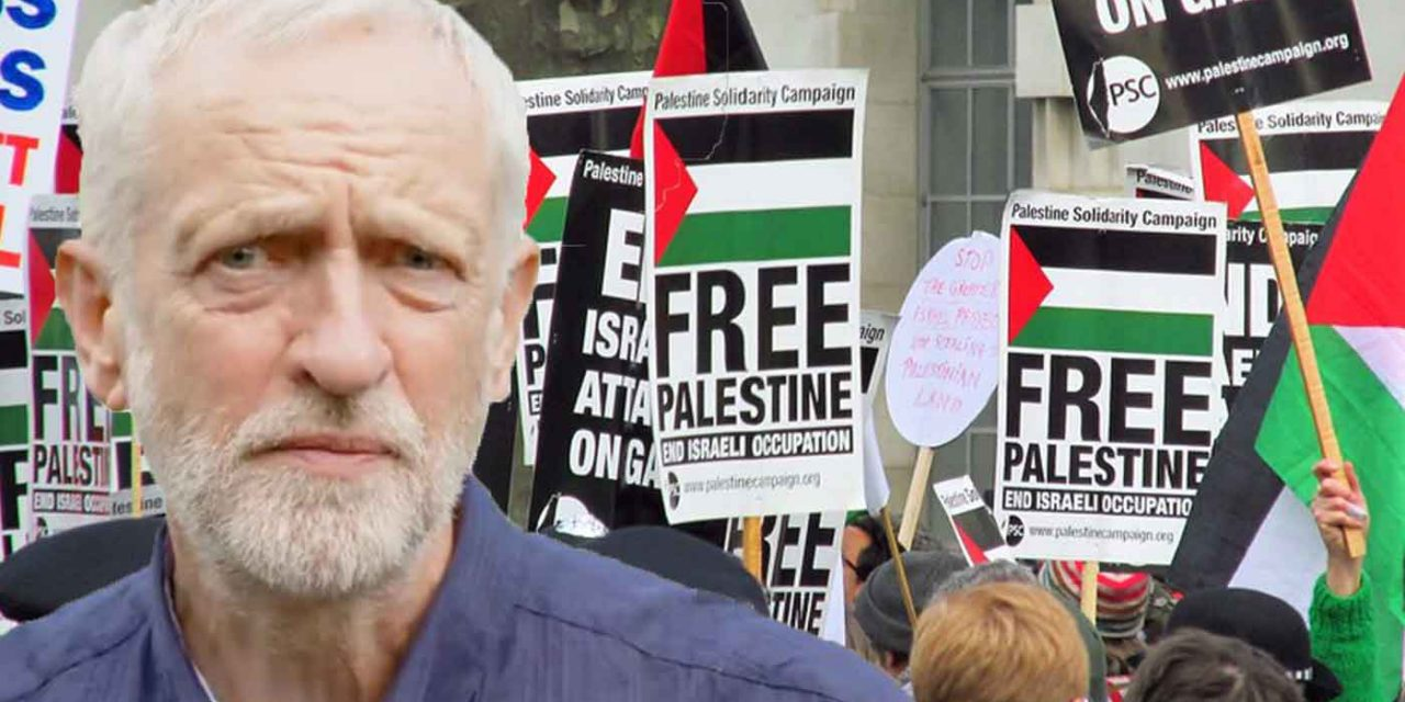 Corbyn's message to pro-Palestinian rally ONLY condemns Israel; not Hamas or rockets that killed Israelis
