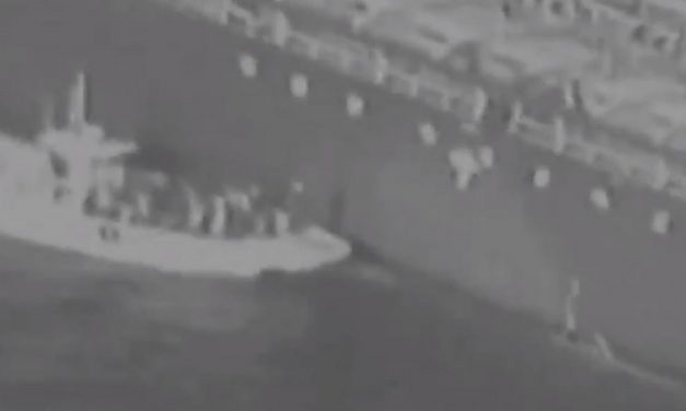 "US releases footage of Iran ""removing unexploded mine"" from oil tanker"