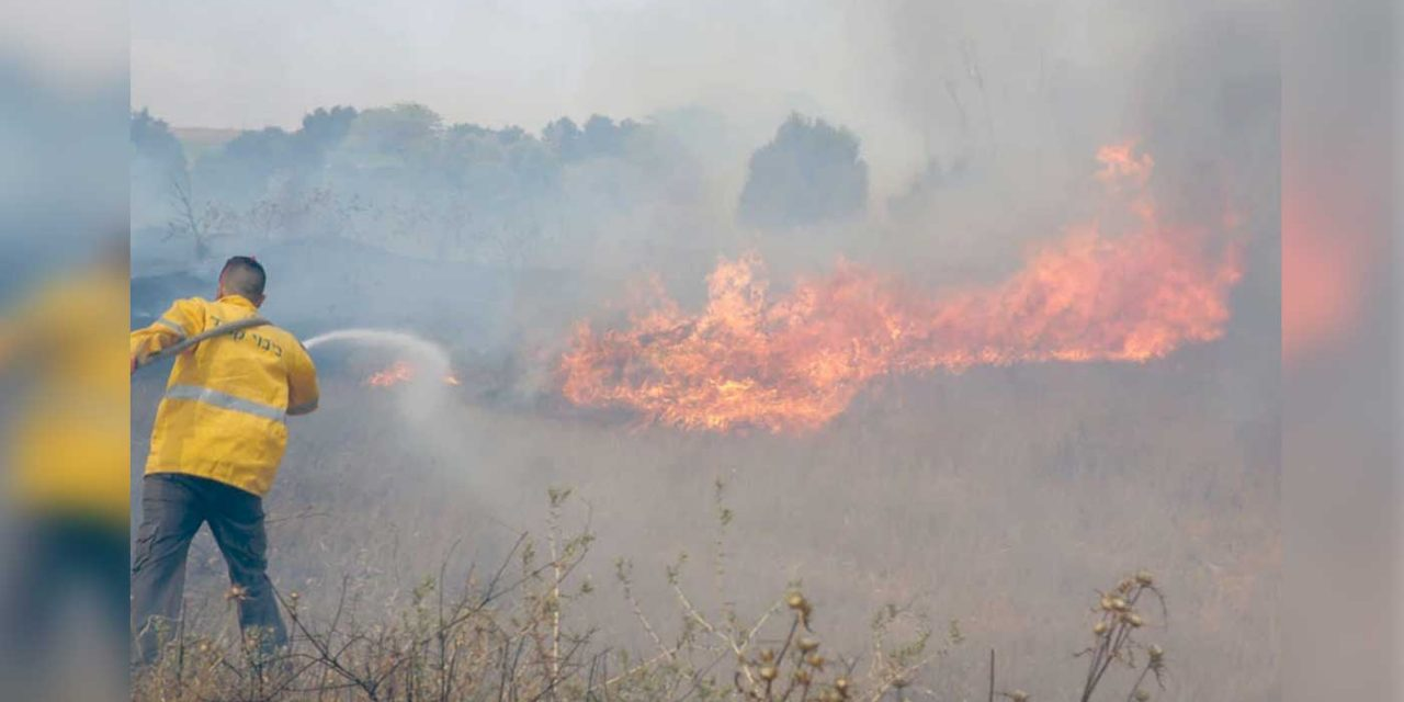 Palestinian fire balloons cause 13 fires, one lands in Israeli kindergarten