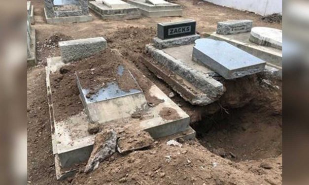 Jewish grave opened, cemetery vandalised in South Africa