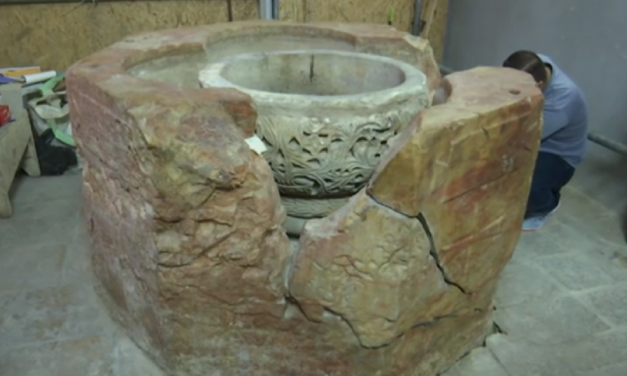"Hidden ""baptismal font"" discovered at Church of the Nativity in Bethlehem"