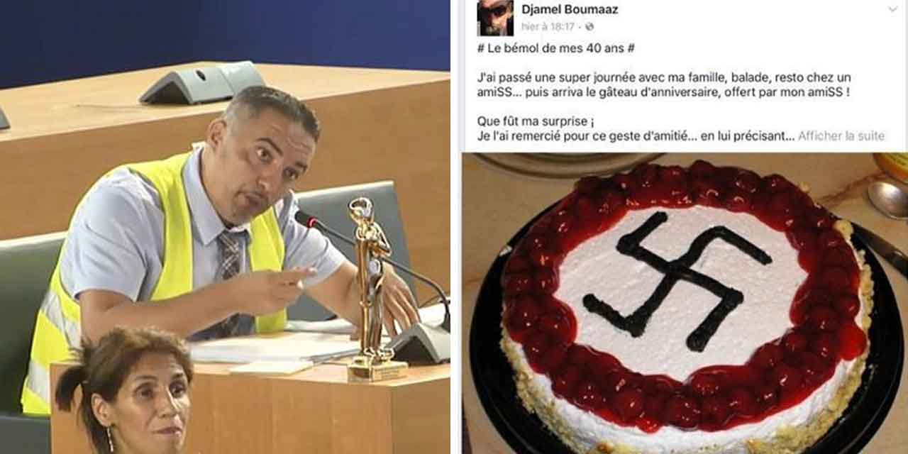 French city official celebrates birthday with swastika cake