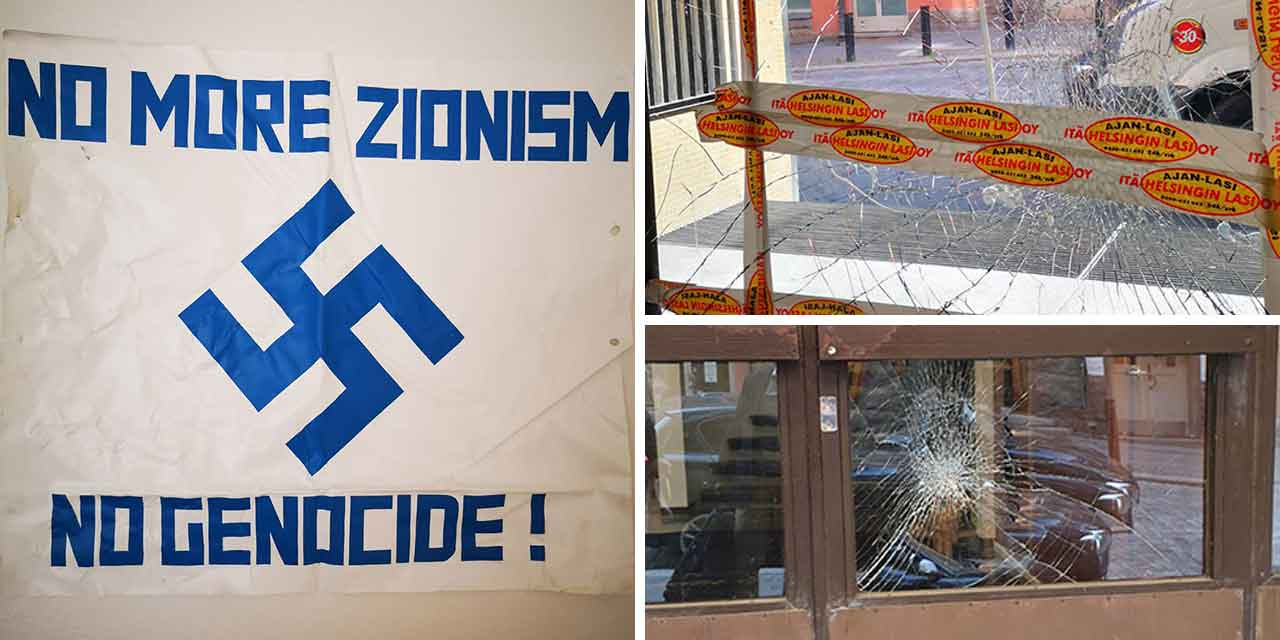 Israeli embassy in Finland attacked 15 times in 18 months
