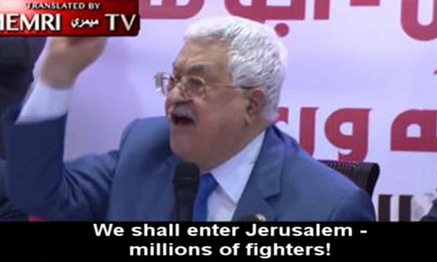 "Abbas declares: ""We shall enter Jerusalem – millions of fighters!"""