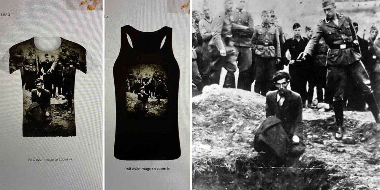 Amazon UK removes clothes featuring infamous Holocaust images