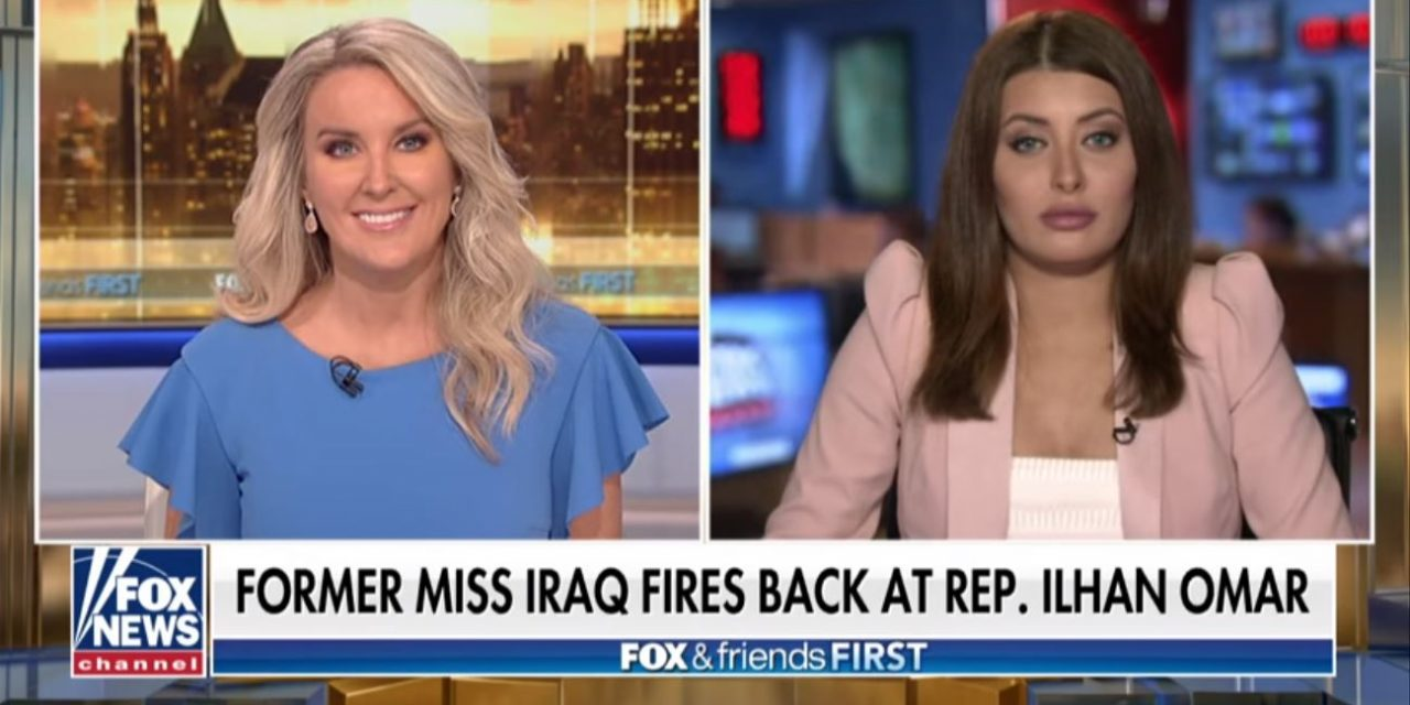 WATCH: Former Miss Iraq fires back at Ilhan Omar – defends Israel