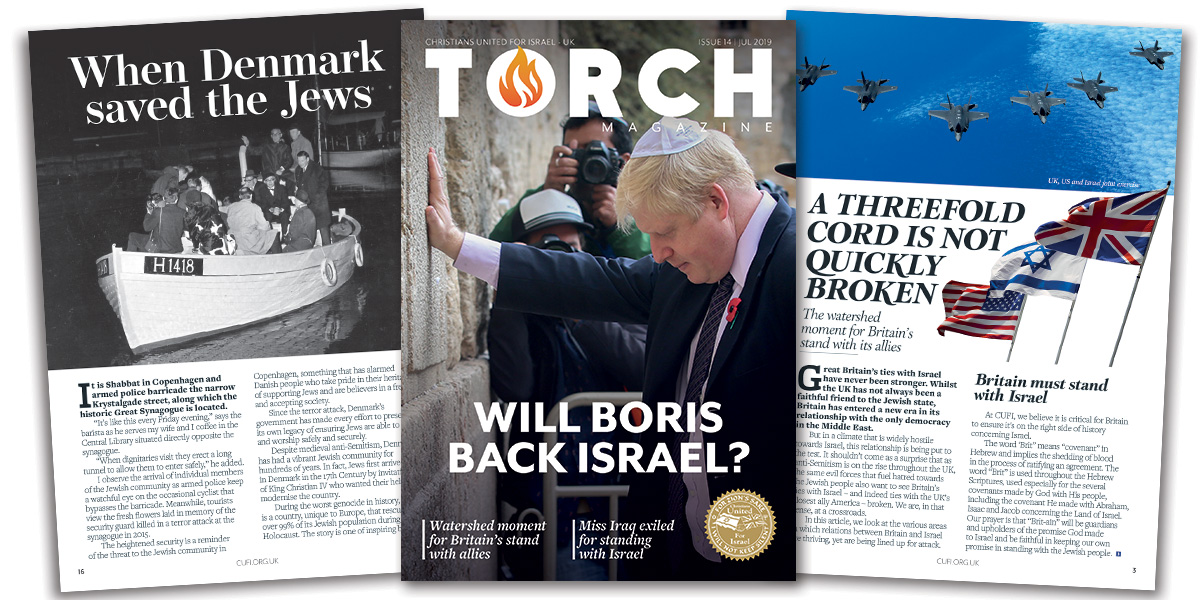 Will Boris back Israel? | Latest TORCH magazine