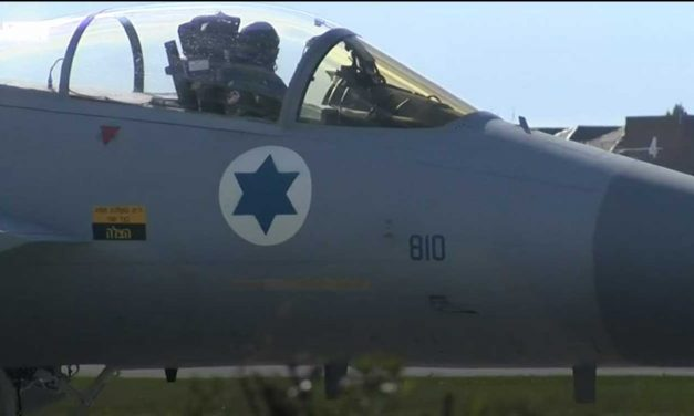 Watch: Israeli Air Force jets flying in British skies draw planespotters from all over the UK
