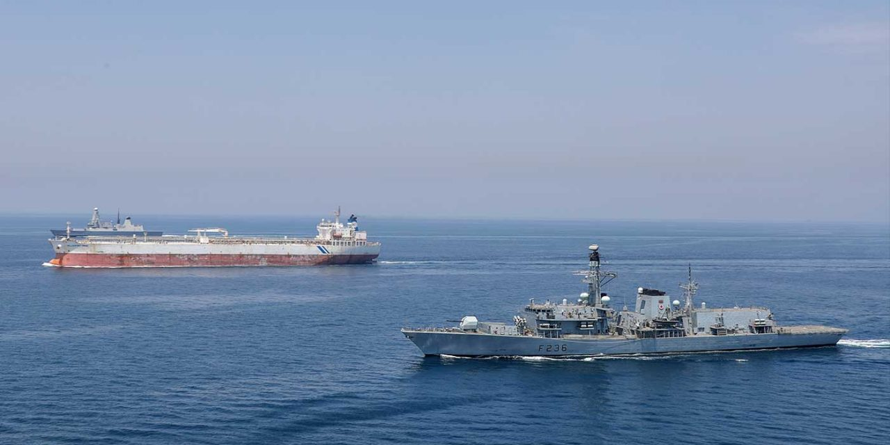 Royal Navy warship faces off against Iranian forces 115 times in two months