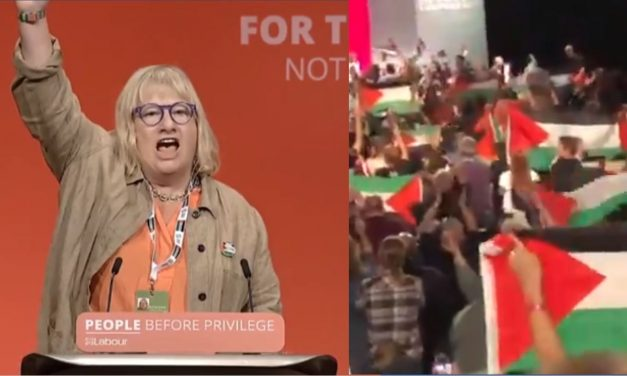 """Palestinian flags and """"Free Palestine"""" chants flood Labour conference"""