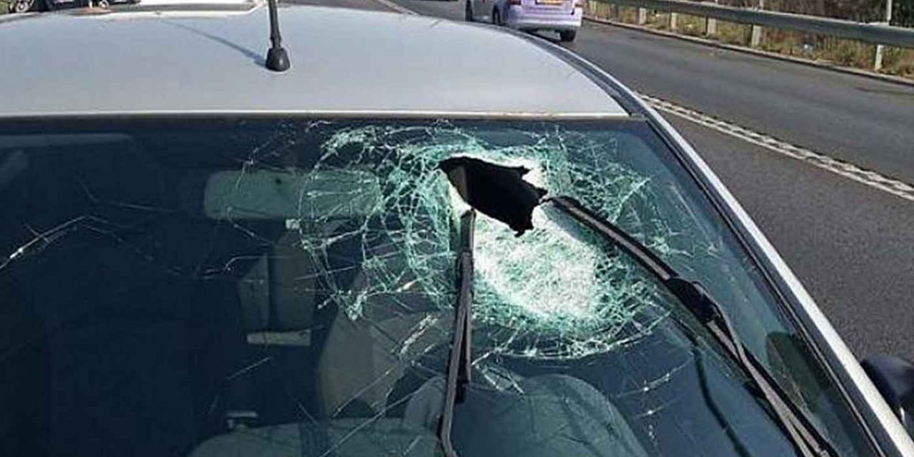 Israeli man injured by rock-throwing terrorists whilst driving