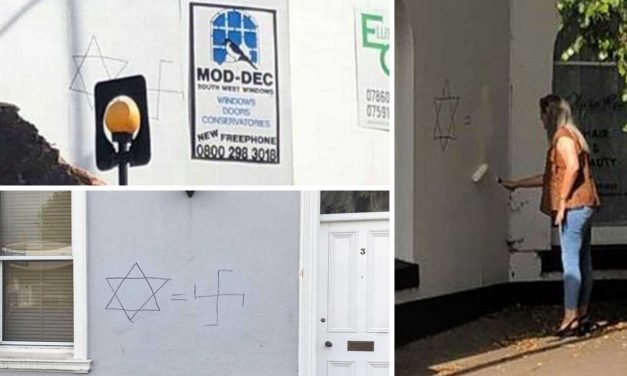 Anti-Semitic graffiti daubed on walls in Torquay and Paignton