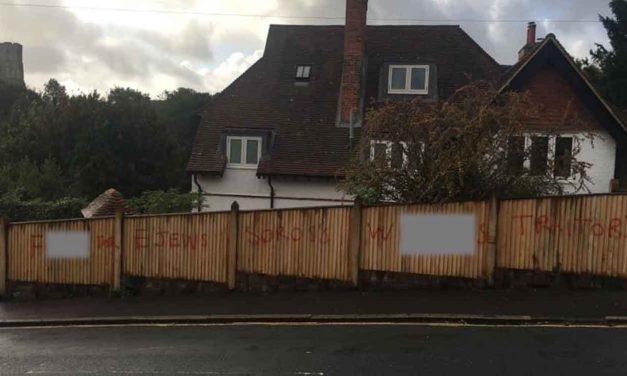 Anti-Semitic graffiti found in Lewes, East Sussex