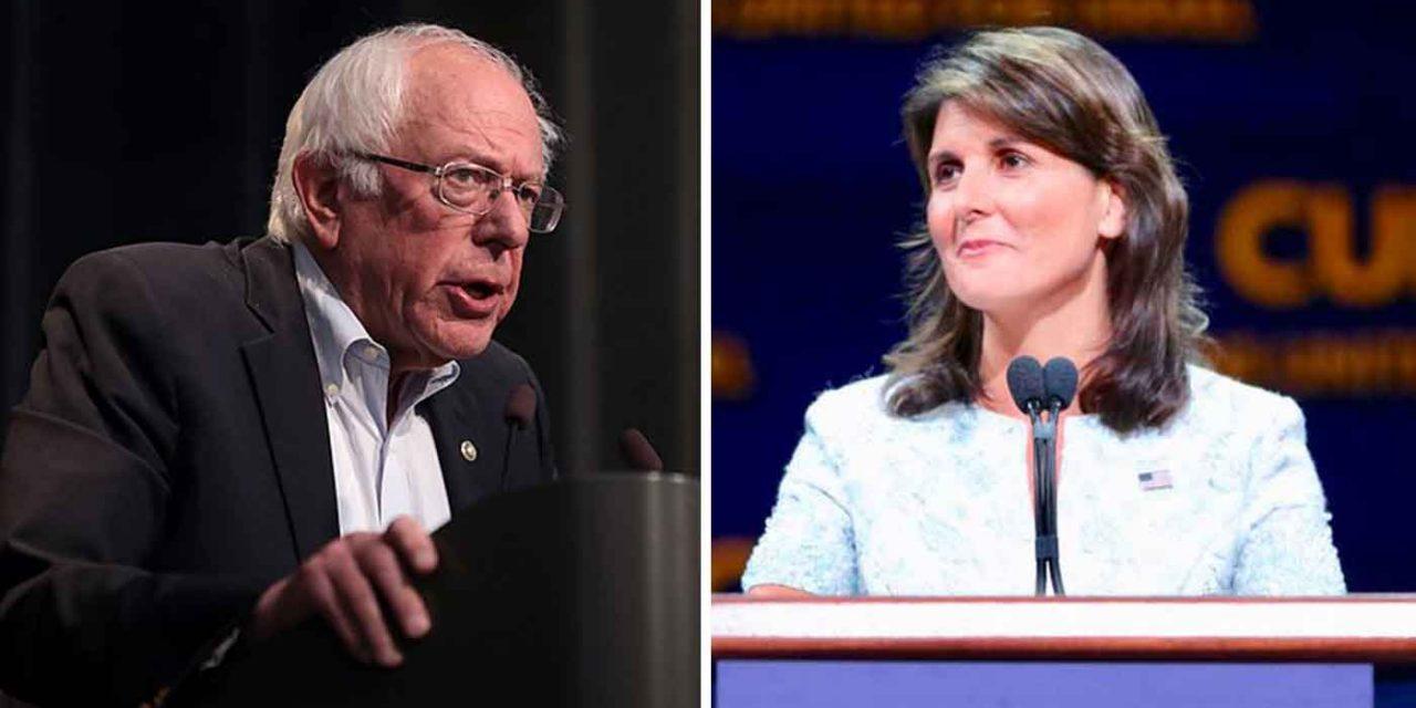 "Nikki Haley slams ""unreal"" Bernie Sanders over wanting to divert Israel funding to Hamas"