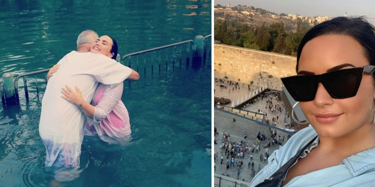 Singer Demi Lovato baptised in River Jordan in life-changing trip to Israel