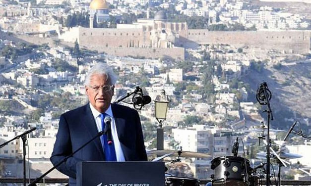"US Ambassador Friedman tells pro-Israel Christians: ""Jerusalem literally keeps us safe"""