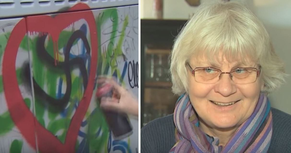 German grandmother fined 1k euros for painting OVER Nazi graffiti