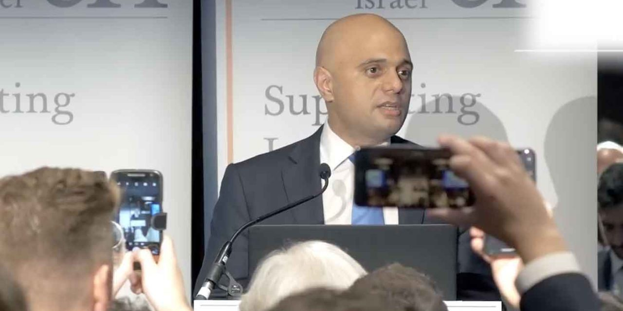 "Sajid Javid: ""Israel aligns with all our values"""