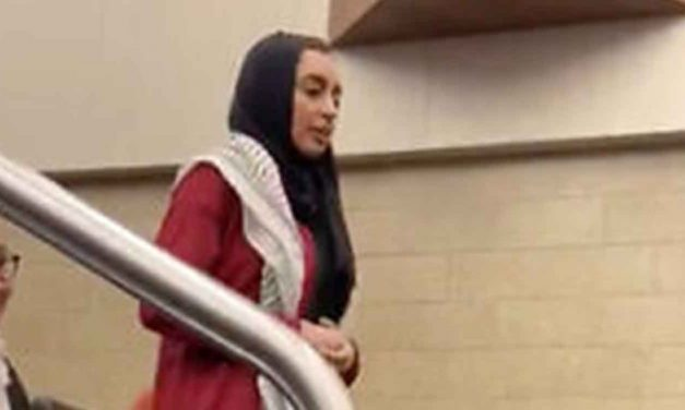 Pro-Palestinian student walks out on Holocaust survivor who says Israel has a right to exist