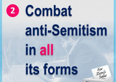 Combat antsemitism is all its forms