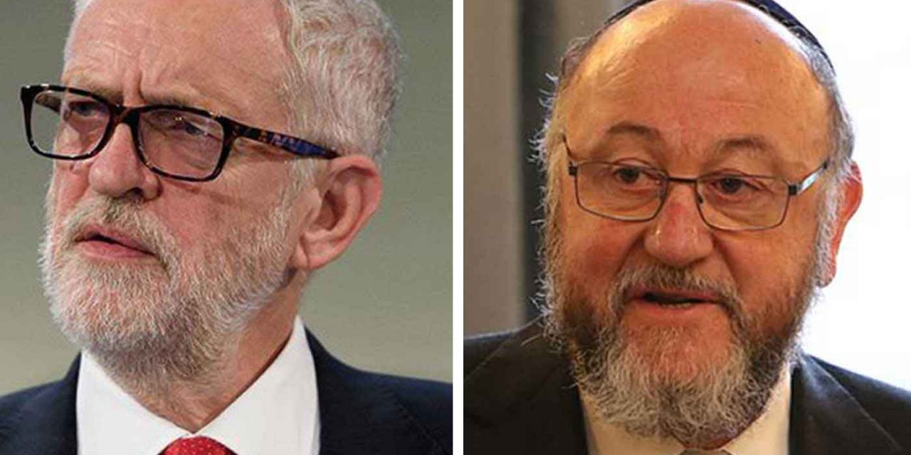 "UK chief rabbi gives unprecedented warning against Labour's anti-Semitic ""poison"""