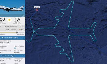 Israel's El Al flight 'draws' 747 plane in sky to mark final flight
